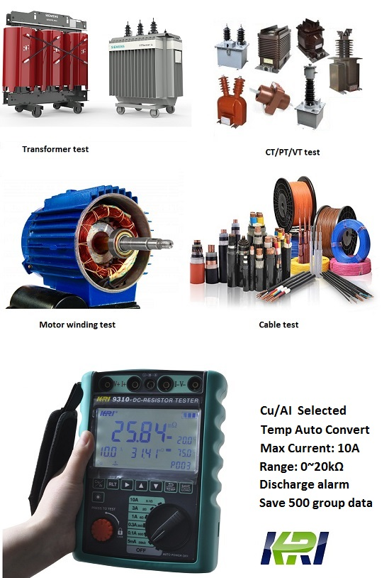 JYR9310 Winding resistance meter - Kritester com